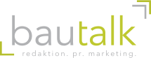 bautalk  Redaktion. PR. Marketing. Logo